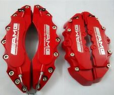 """Engineering Plastic Red Brake Caliper Cover Silver Font AMG 11""""F 9""""R Mercedes"""