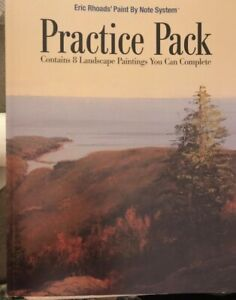 ERIC RHOADS Paint By Note System Practice Pack Contains 8 Landscapes To Complrte