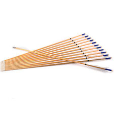 "6pcs 31""Wooden Arrows Elf Feather Archery Recurve Bow Hunting Sports outdoor"