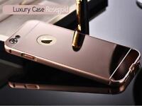 Luxury Aluminum Ultra-thin Mirror Metal Case Cover for iPhone SE 5S 6S 7 8 plus