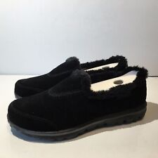 Skechers Women's GoWalk 13764 SKX Memory Fur Sneaker (1075) Black Size 5.5M