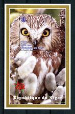 Niger 1998 MNH Owls Italia 98 1v M/S Birds Stamps