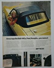 AMCO 1972 Car Equipment magazine advert - English - USA TRIUMPH FIAT MG