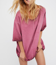 FREE PEOPLE INTIMATELY HERE IT IS WASHED PINK OVERSIZED COMFY LOUNGE PULLOVER M