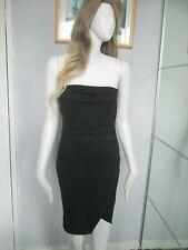 Missguided - Black Boob Tube Bodycon Mini Dress Size 8