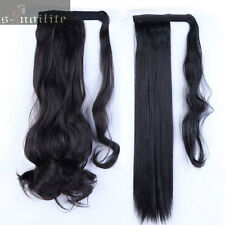 Mega Thick Clip In Ponytail Hair Extensions Straight Curly Wrap Pony Tail HG89