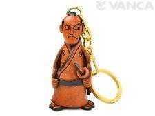 Samurai Handmade 3D Leather (L) Keychain *VANCA* Made in Japan #56267