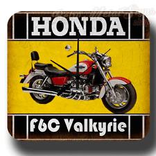 HONDA F6C Valkyrie  MOTORRAD Wanduhr Werkstatt  Blechschild Stil Wanduhr