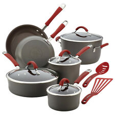 Rachel Ray Cookware Set Aluminum Non stick Oven Safe Hard Anodized Lid Pots Pans