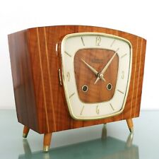 KIENINGER Mantel Clock Vintage HIGH GLOSS 1969 COLLECTABLE! 3 BAR CHIME Germany