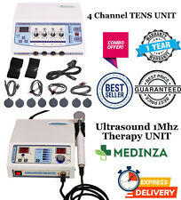 Combo Pack Ultrasound 1 Mhz Pain Relief Therapy 4 Channel Electrotherapy Unit