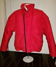 Hardy Amies London Red Ski Coat  w/ Collar. Medium for Men.