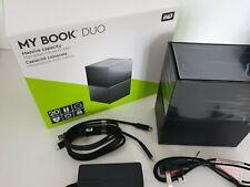 NEW WD Duo 2 Bay RAID SATA Hard Drive Enclosure Active Cooling USB C