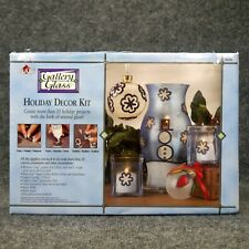 Plaid Gallery Glass Holiday Decor Kit 20+ Projects Look Of Stained Glass New