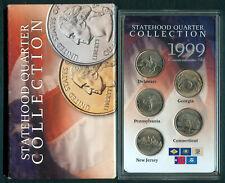 1999-D U.S. STATEHOOD QUARTER COLLECTION 5-Quarters UNC Coins