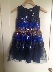 John Lewis age 8 sparkly ombré dress