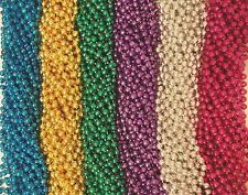 120 (10 Dozen) Mardi Gras Beads Carnival Parade Necklaces Lot Free Shipping