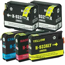 5PK Compatible 932XL 933XL Ink Cartridge for OfficeJet 6100 6600 6700 7110 7610