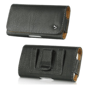 Leather Belt Clip Carrying Pouch Case for Insulin Pump and CGM Device Universal