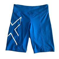 2XU Women's Blue Compression Performance Running Shorts Size XL Cycling