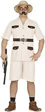 Mens Safari Hunter Zoo Keeper Stag Night Fancy Dress Costume Outfit Stag Do M L