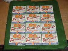 "Lot of 12 Vintag ""Harrison's Fresh Fruit Heart Orange Drink"" Labels, Chicago, Il"