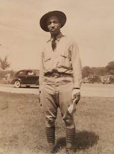 VINTAGE AFRICAN AMERICAN PRE WW2 CAMP GRANT IL GENEALOGY RAYMOND W ARNETT PHOTO