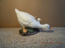 Vintage Bisque Ceramic Duck With Ducklings Figurine, K's Collection