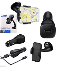 Genuine Samsung Galaxy S7 Edge & S7 Vehicle Car Dock Holder + Car Charger /Cable