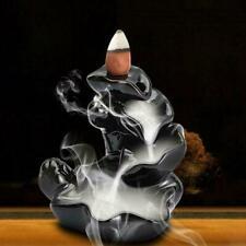 Neues Angebot Black Ceramic Waterfall Incense Burner Backflow Censer Home Censer Holder T4P8