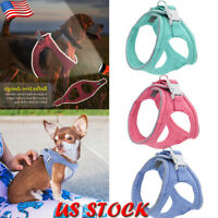 Puppy Cat Reflective Harness Leash Soft Mesh Vest Harnesses For Small Medium Dog