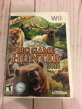 Cabela's- Big Game Hunter 2012-  Nintendo- Wii Game