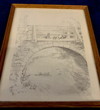 Winnie The Pooh Pencil Sketch Art Print Picture Framed