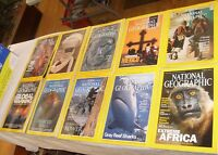 Lot of 10 National Geographic Magazines Mixed years 2001 1995 1996 1974 1979