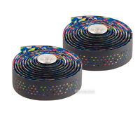 Cinelli SUPERCALEIDO Perforated Bicycle Dropbar Handlebar Tape BLACK/MULTICOLOR