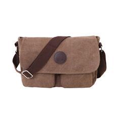 Vintage Men's Canvas Messenger Shoulder Bag Military Crossbody Book Bags Satchel