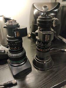 Canon & Fuji Broadcast Video Zoom  Camera Lenses