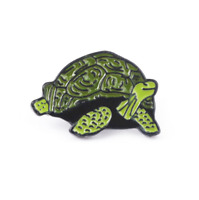 The Simpsons Turtle Brooches Enamel Pin Animal Turtle Badge Lapel Pin Jewelry