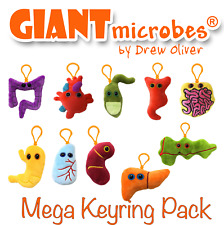 Giant Microbes Mega Keychain Keyring 10 Pack Officially Licensed GiantMicrobes
