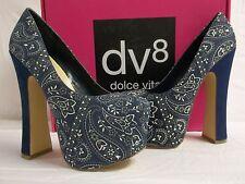 DV8 Dolce Vita Size 7.5 M Vixen Paisley Fabric Platforms Heels New Womens Shoes