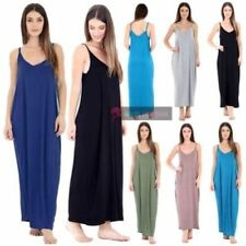 Viscose Solid Dresses for Women's Maxi Dresses