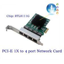 4 Port 1000Mbps RJ45 PCI express Network Card PCIe to Gigabit Ethernet LAN Card