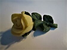 White Rose/ Green Stem Brooch� �Jewelry Garage Sale!� Hand-Made N Painted
