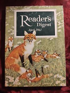 Readers Digest April 1961 John G. Hubbell Ray Bradbury Pancho Segura