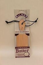 New Kilner Wood Wooden Butter Paddles Bats Set Of 2 0025.349