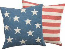 Pillow American Flag 4th of July Patriotic Red White Blue 1Pillow With 2 Sides