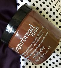 Philosophy Gingerbread Man Glazed Body Souffle Cream Lotion, Big 16 Fl Oz ~New!