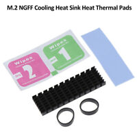 1Set M.2 NGFF NVMe 2280 PCIE SSD Aluminum Cooling Heat Sink With Thermal  Rf TEU