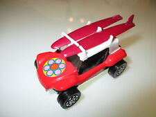 GP G.P. Beach Buggy in rot red + 2x Surfboard, Corgi Toys Whizzwheels ca. 1:43!
