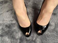 Nine West Worn UK6 Black Peeptoe High Heels
